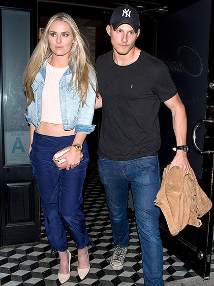 Lindsey Vonn Spotted Leaving Dinner with Hunger Games Star A
