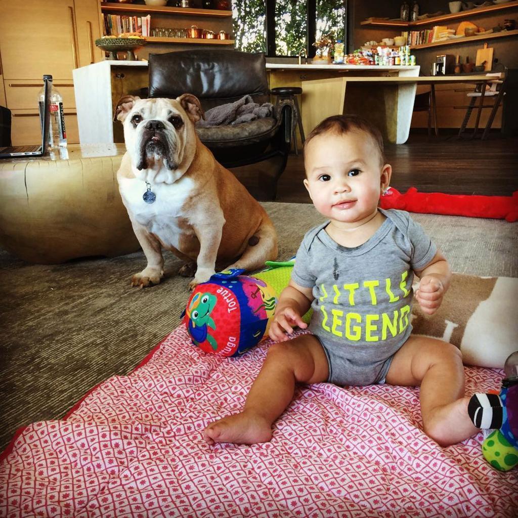 Luna Has Her First Tooth! Chrissy Teigen Shares Photo of Her        Little Legend