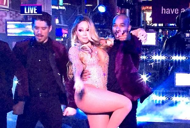 Mariah Carey Vamps Her Way Through Lip Sync Snafu on ABC's Rockin' New Year's Eve Special