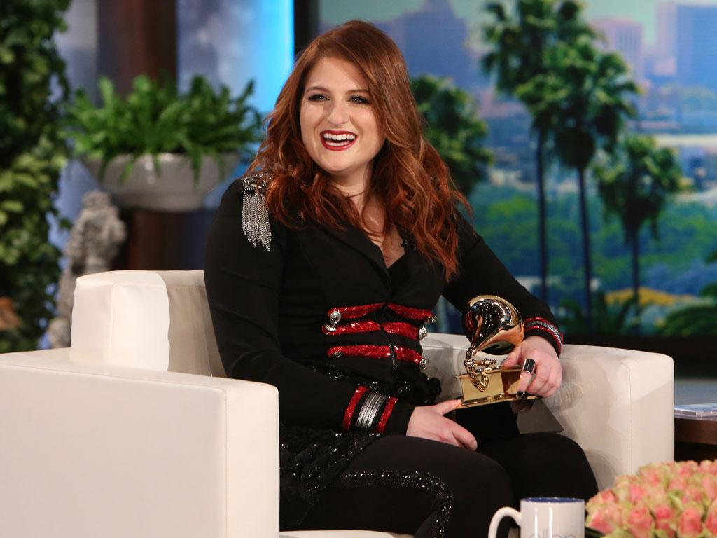 Meghan Trainor Finally Gets Her Grammy Award - From Ellen De