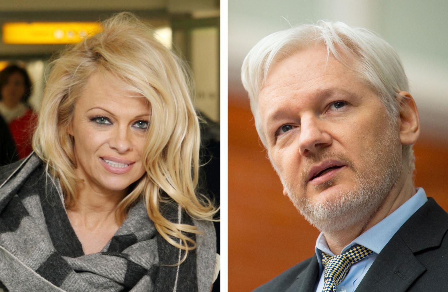 Pamela Anderson Visits WikiLeaks '  Julian Assange, Brings Him   'A Nice Vegan Lunch