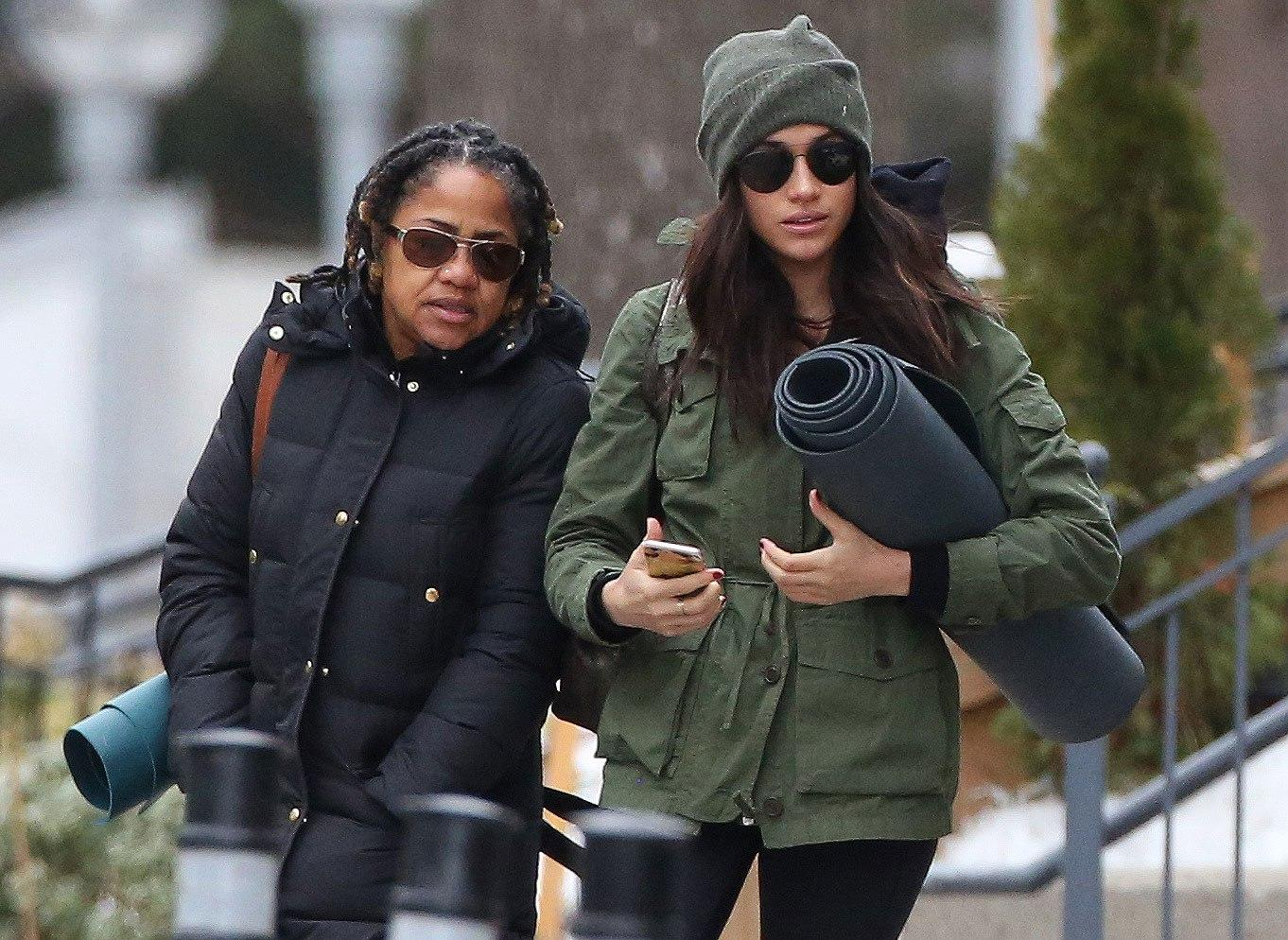 Photos: Meghan Markle Steps Out for Post-Christmas Yoga with Her Mom