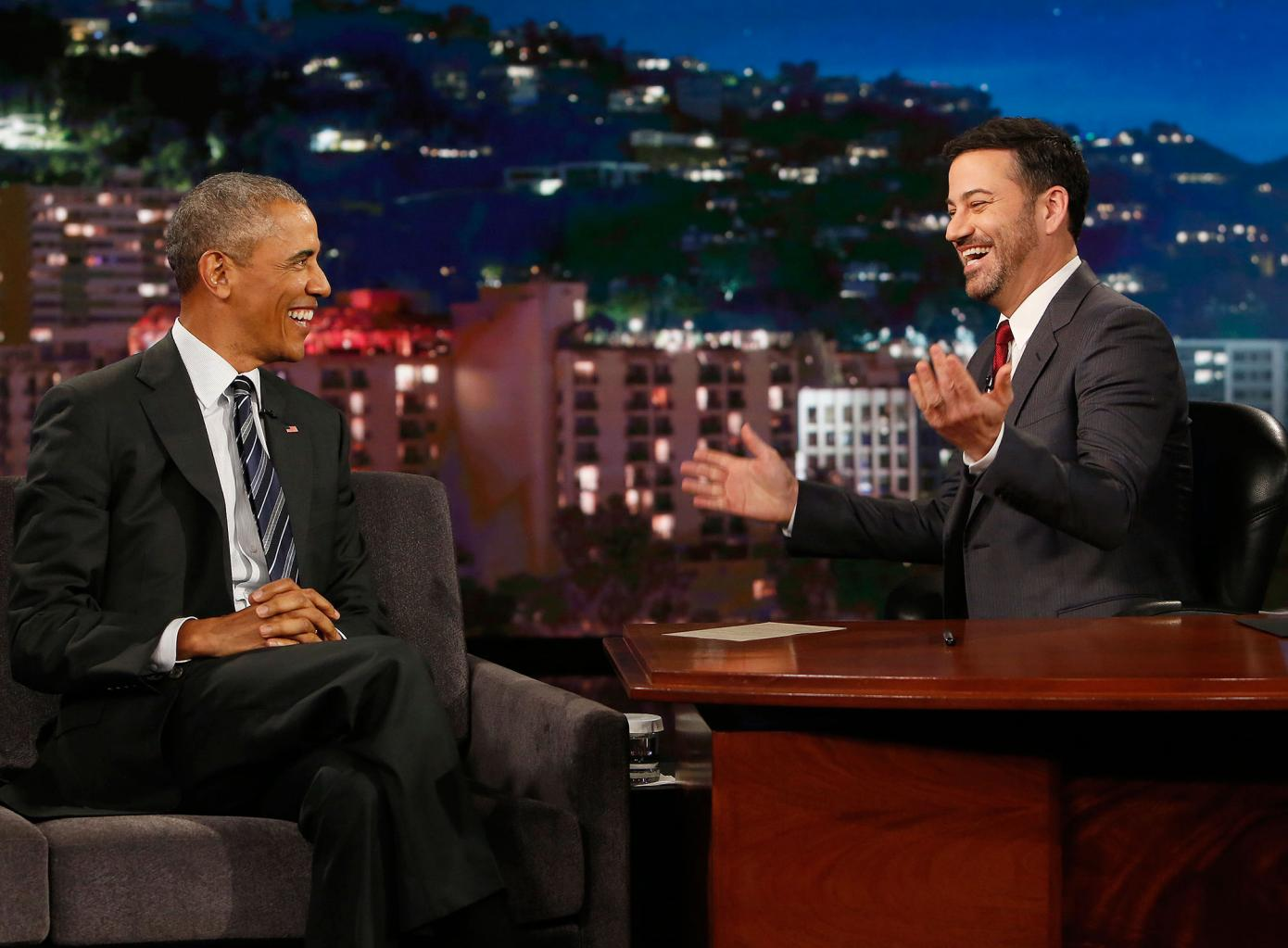 President Obama Says He Laughs        Most of the Time      '  At Donald Trump