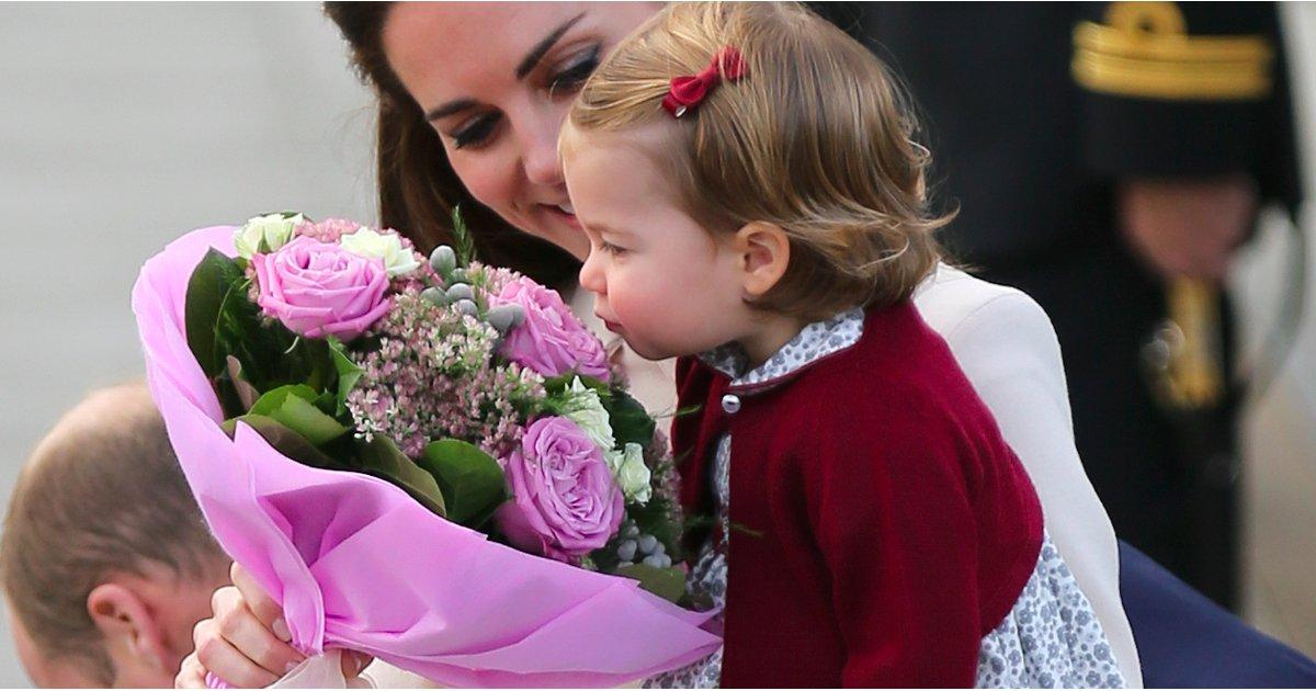 Princess Charlotte Takes a Moment to Stop and Smell the Roses