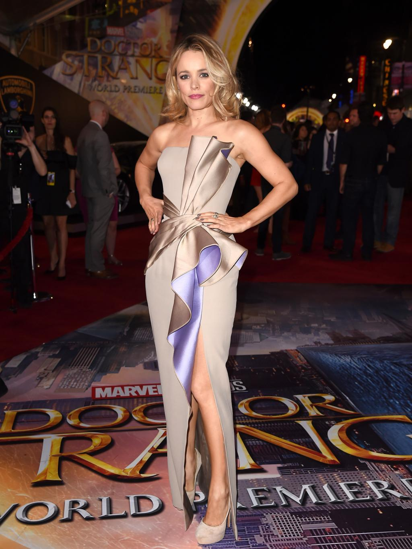 Rachel McAdams Looks Marvel-ous in Atelier Versace at Doctor Strange Premiere in L.A.