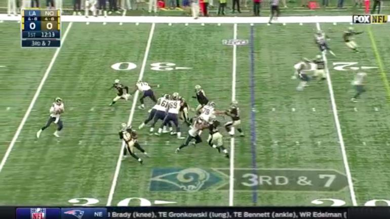 Rams-Saints highlights: Watch Jared Goff toss a dime for first career TD