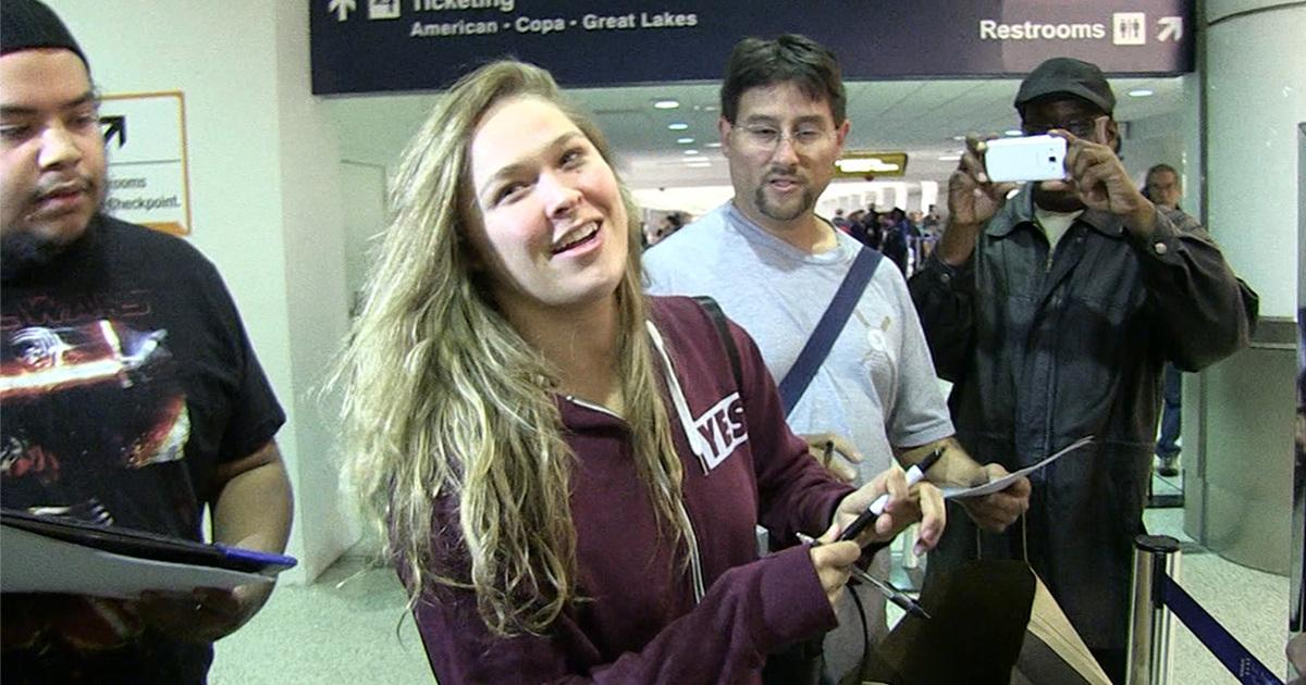 Ronda Rousey -- She's Back from Marine Corp Ball ... and She