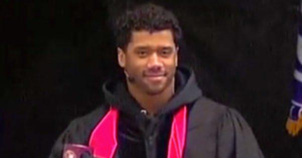 Russell Wilson's Commencement Speech Is Filled With Heart, Emotion and a Little Ciara Too