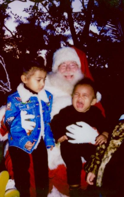 Saint West Cried When He Met Santa Claus  '  and North Was Not Impressed