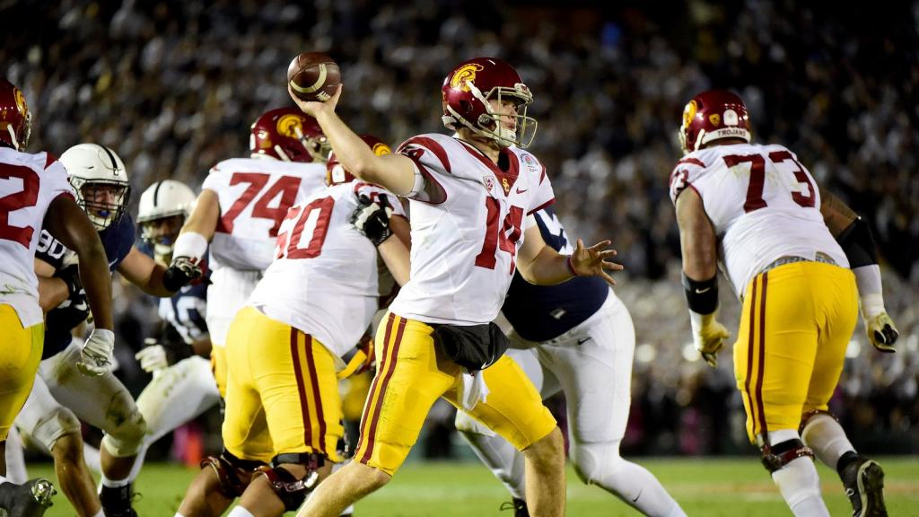 Sam Darnold breaks Vince Young's Rose Bowl record, and 15 more wild numbers from USC-Penn State