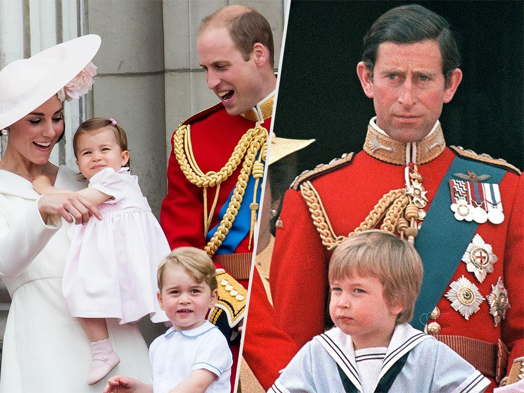 See William and Harry on the Palace Balcony at the Same Age as George and Charlotte!