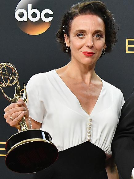 Sherlock's Amanda Abbington Says Her Purse Was Stolen When She Went to Accept Emmy Award