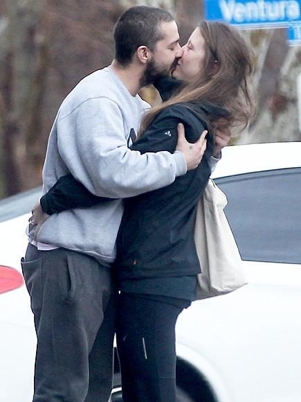 Shia Labeouf and Mia Goth Share a Smooch in Los Angeles Afte