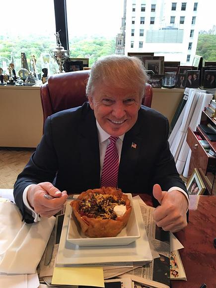 Social Media Has Plenty to Say About Donald Trump's Cinco de Mayo Post: 'Can the Taco Bowl be President Instead?'