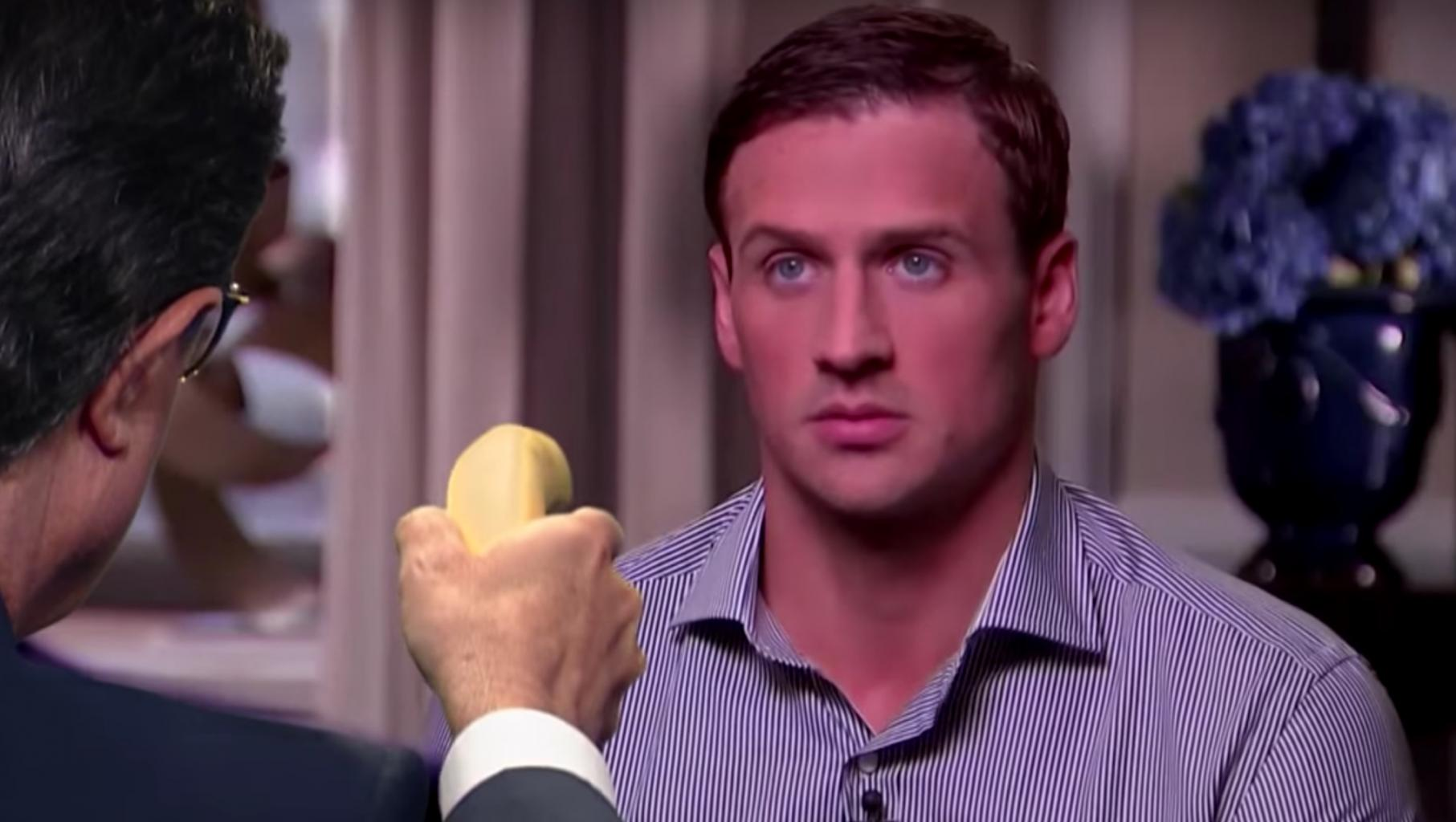Stephen Colbert Conducts Hilarious Faux Interview With Disgraced Rio Swimmer Ryan Lochte