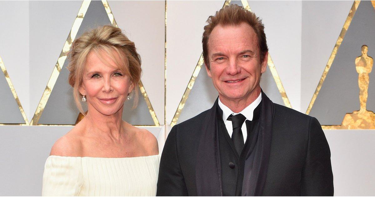 Sting and Wife Trudie Brought Their Nearly 25 Years of Wedded Bliss to the Oscars Red Carpet