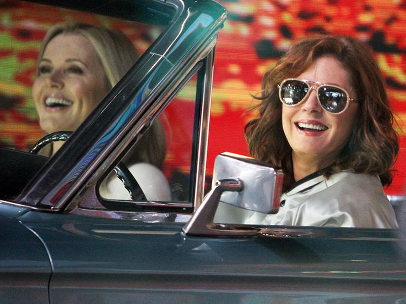 Susan Sarandon and Geena Davis Reunite in the 1966 Ford Thun
