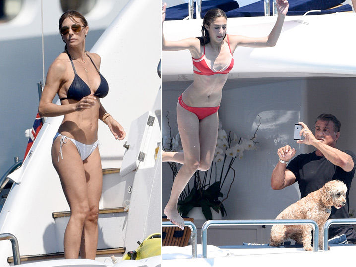 Sylvester Stallone -- Come Aboard ... Especially My Hot Wife ( Photo Gallery)