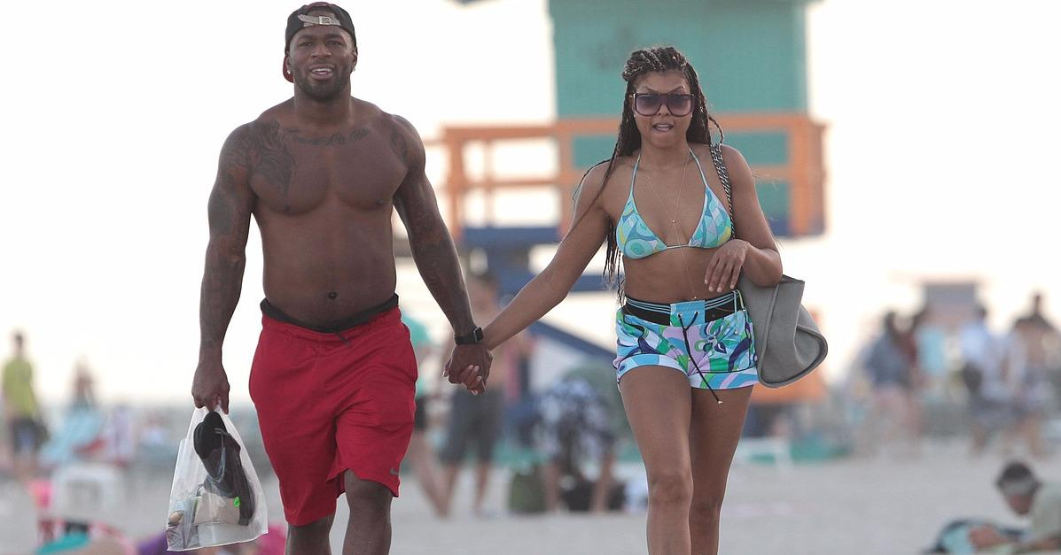 Taraji P. Henson Holds Hands With a Shirtless Stud on the Be