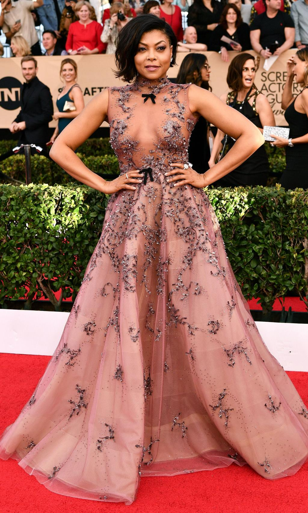 Taraji P. Henson Shows How to Fall with Grace at SAG Awards: 'I'm a Bit of a Klutz … That's What Makes Me Human'