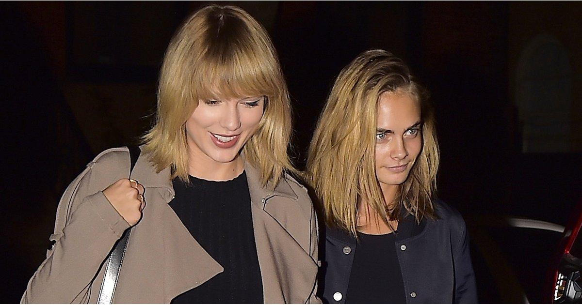 Taylor Swift Links Up With Cara Delevingne After Kanye West Publicly Disses Her