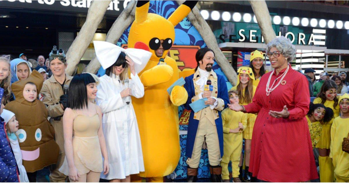 The Hosts of Good Morning America Channel Sia, Hamilton, and Pikachu on Halloween