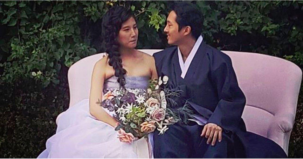 The Walking Dead's Steven Yeun Marries Longtime Girlfriend Joana Pak