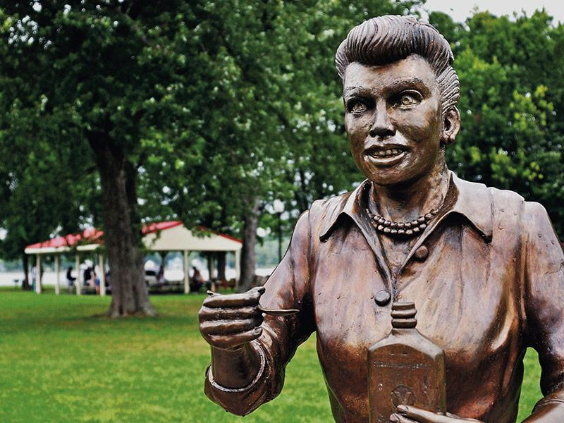 There's the Lucy We Love! Get a First Look at the New Lucille Ball Statue