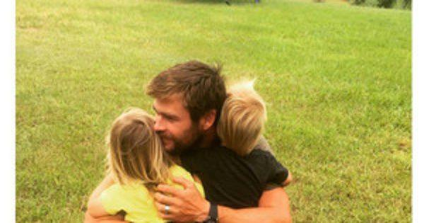 This Photo of Chris Hemsworth Snuggling His Twins on Their B