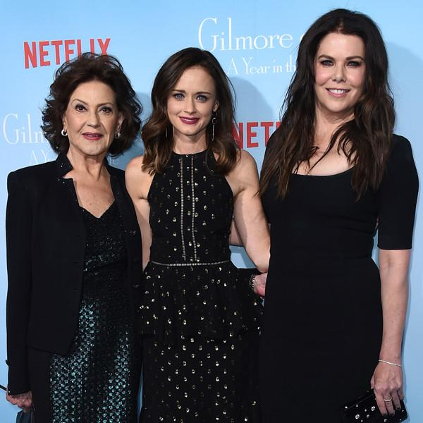 Three Generations of Gilmore Girls Alexis Bledel, Lauren Graham and Kelly Bishop Dazzle in Matching Ensembles