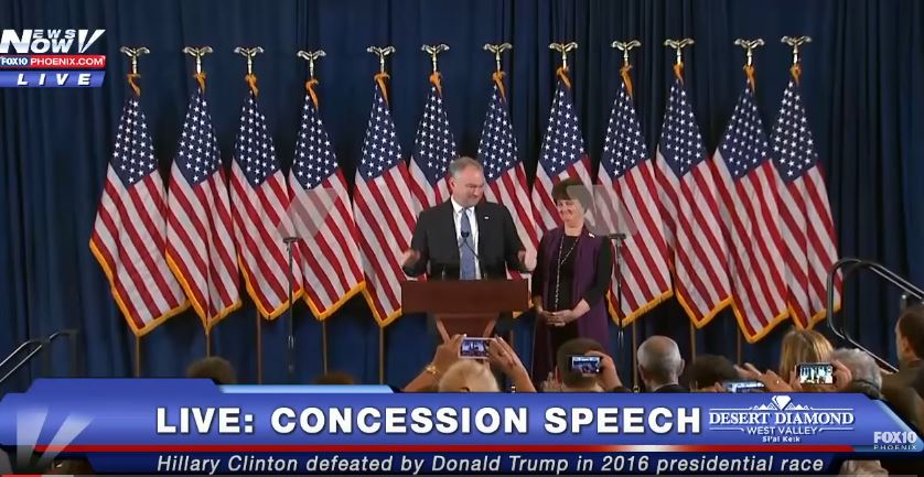 MUST WATCH: Tim Kaine's EMOTIONALLY Speaks Before Hillary Clinton Concession Speech - FULL SPEECH