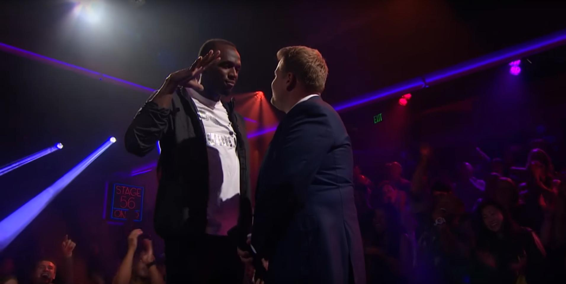 Usain Bolt Drops Insane Bars On    Drop The Mic '  Versus James Corden