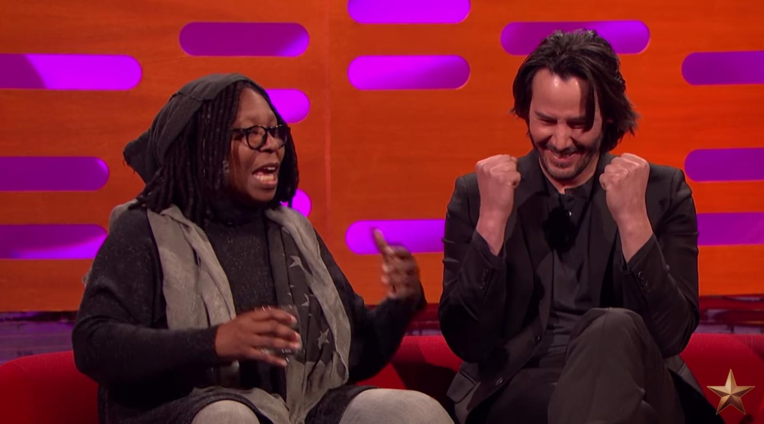 Whoopi Goldberg Enlightens Keanu Reeves On Losing Her Pubic Hair