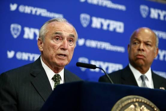 William Bratton, New York City Police Commissioner, Announces Resignation