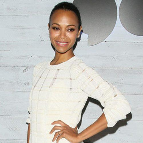 Zoe Saldana Shares an Adorable Christmas Tree Photo of Her T