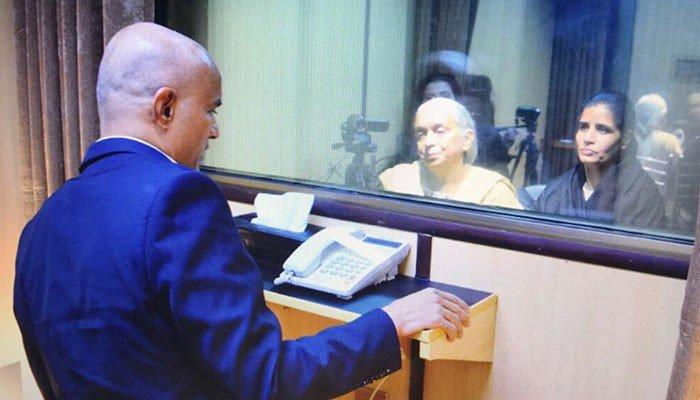 Indian Kulbhushan Jadhav meets mother wife at Foreign Office in Pakistan
