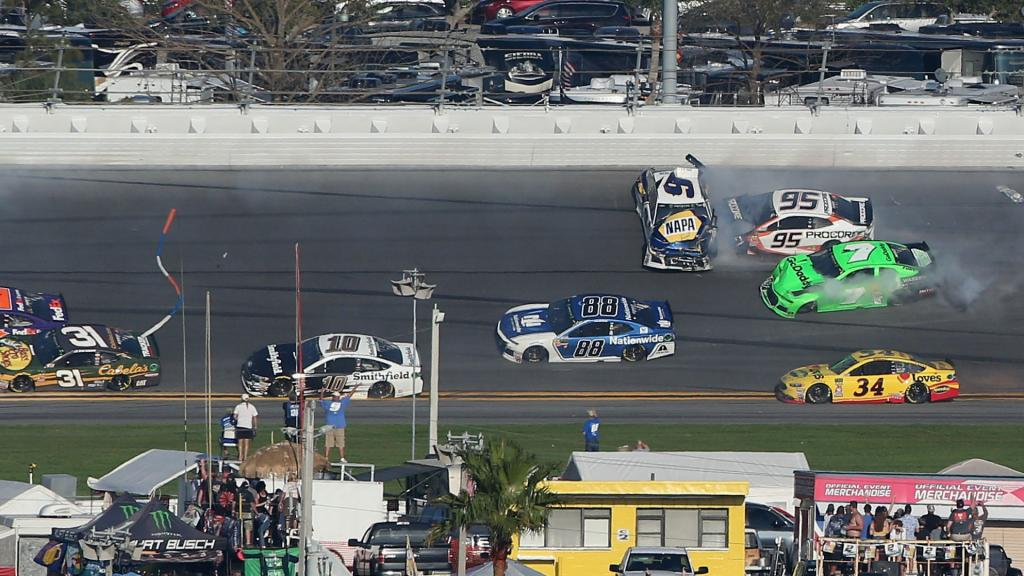Watch Danica Patricks NASCAR career comes to an end in big Daytona 500 wreck
