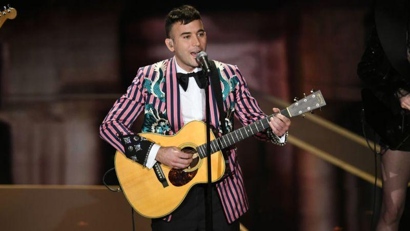 Watch Sufjan Stevens and his jacket serenade the Oscars with St Vincent and Moses Sumney