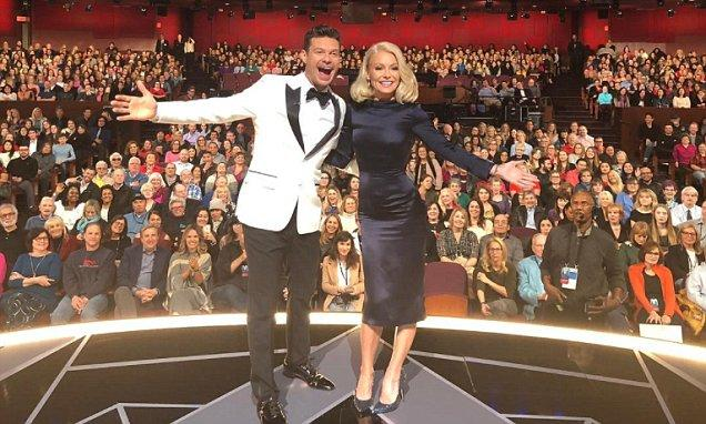 Ryan Seacrest hosts Live with Kelly Ripa day after Oscars