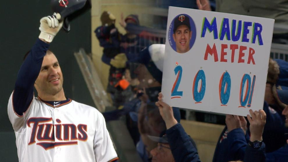 Mr Consistency Joe Mauer picked up career hit No 2000 and it was almost exactly the same as his first