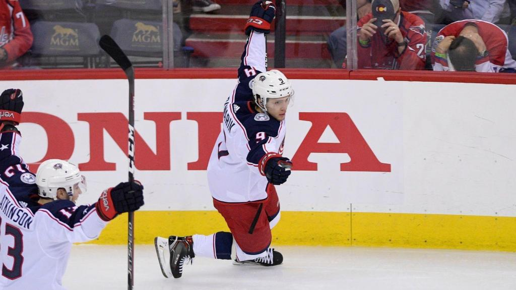 Former Blackhawk Artemi Panarin scores in OT Blue Jackets beat Capitals in Game 1