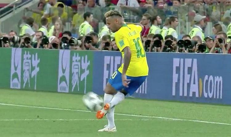 Neymar skills Did you see the amazing touch from Brazil star vs Serbia