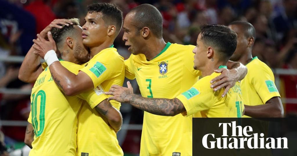 Paulinho and Thiago Silva put Brazil through and send Serbia home