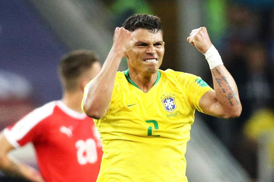 Brazil 2 Serbia 0 Neymar and co top World Cup group after Paulinho and Thiago Silva net