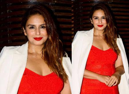 Huma Qureshi looks every bit sexy in this red dress Times of India