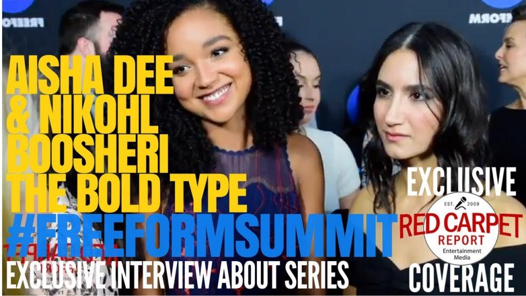 Video - Nikohl Boosheri Aisha Dee from The Bold Type interviewed at the 1st FreeformSummit