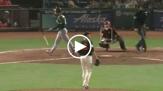 Mark Canha apologizes for bat flip then takes it back