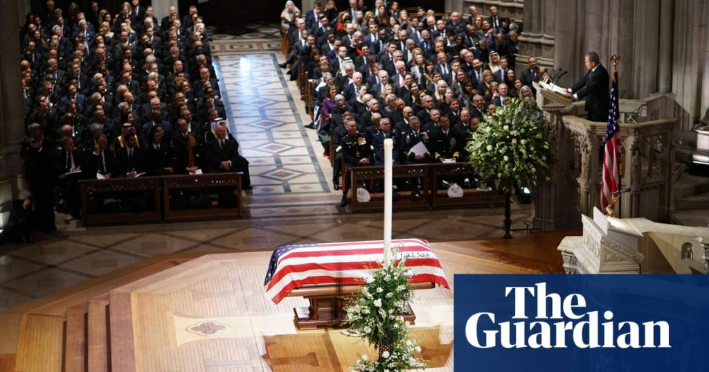 Washington mourns George HW Bush as Trump gives cold shoulder to Clintons