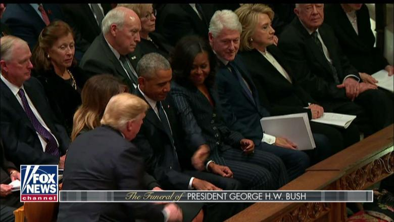 MacCallum and Watters Did Hillary Snub Pres Trump at George HW Bushs Funeral