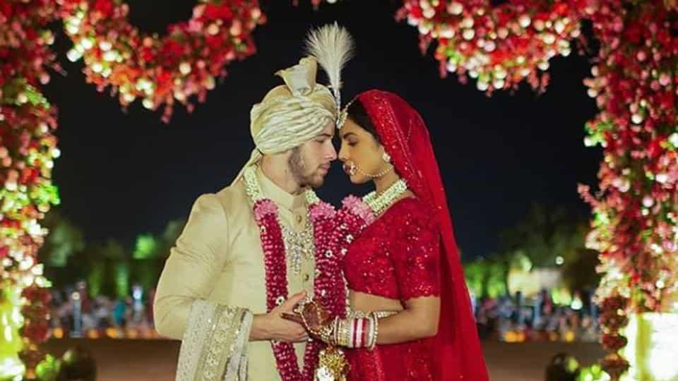 Latest pics from Priyanka Chopra Nick Jonas varmala ceremony her bridal photo shoot